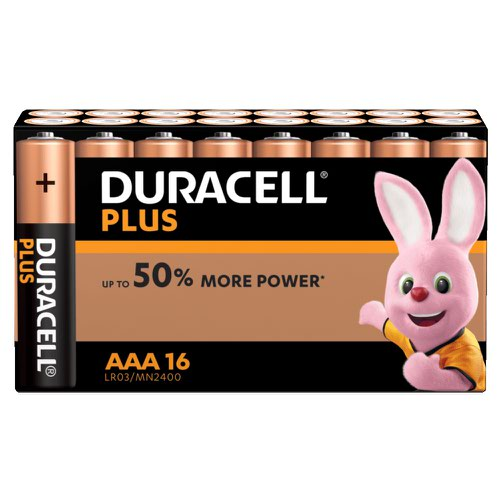 Duracell Plus Power Battery AAA (16) 81275409