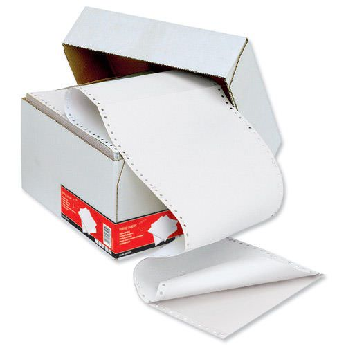Value Listing Paper 2part 279x241mm Plain White 60gsm Standard Perforated (1000)