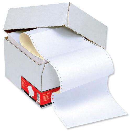 Value Listing Paper 2part 296x235mm/A4 Plain White/Yellow Microperforated (2000)