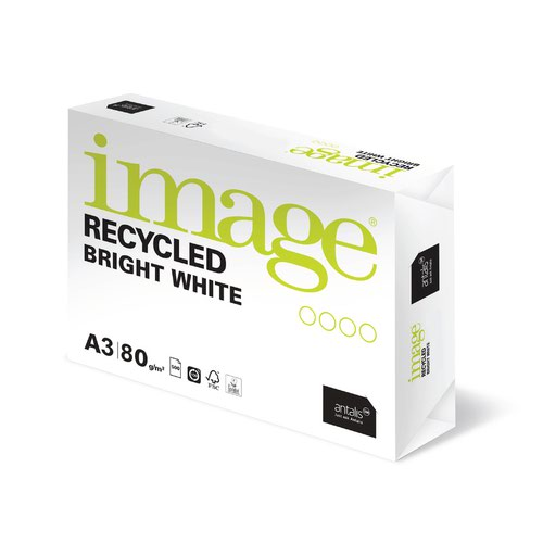 Image Recycled Bright White Paper A3 80gsm (500) 69061