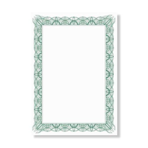 Certificate Paper A4 90gsm Green Wave (30)