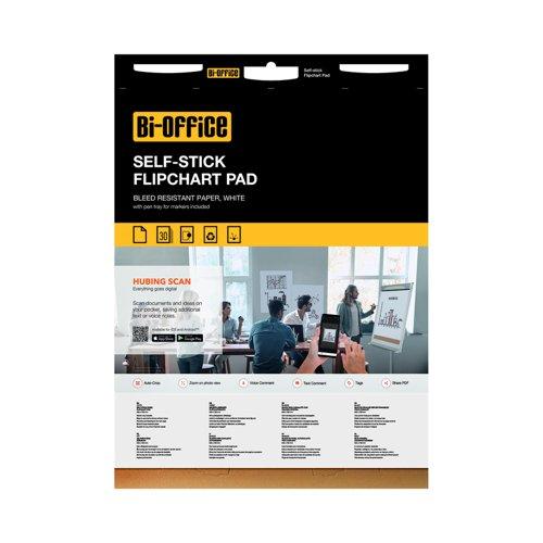 Bi-Office Self-Stick Flipchart Pads 30sheets FL128107