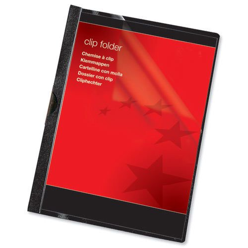 Value Clip File 6mm Black (25)