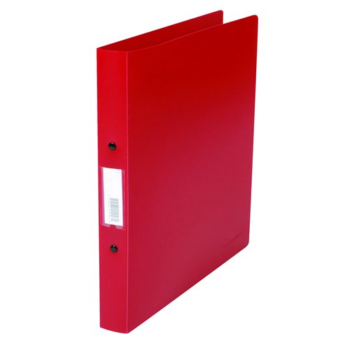 Value PVC Ring Binder 2-Ring A4 25mm Red