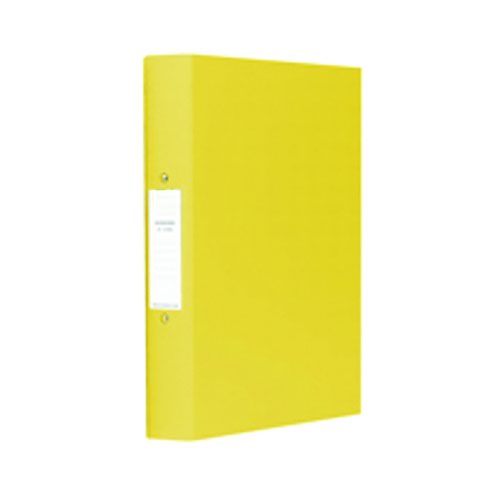 Value PVC 2 Ring Binder A4 Yellow