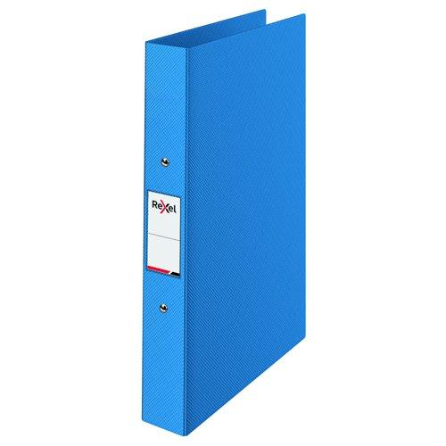 Rexel Choices Polypropylene Ring Binder A4 25mm Blue 2115564