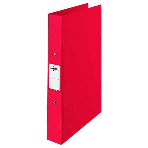 Rexel Choices Polypropylene Ring Binder A4 25mm Red 2115566