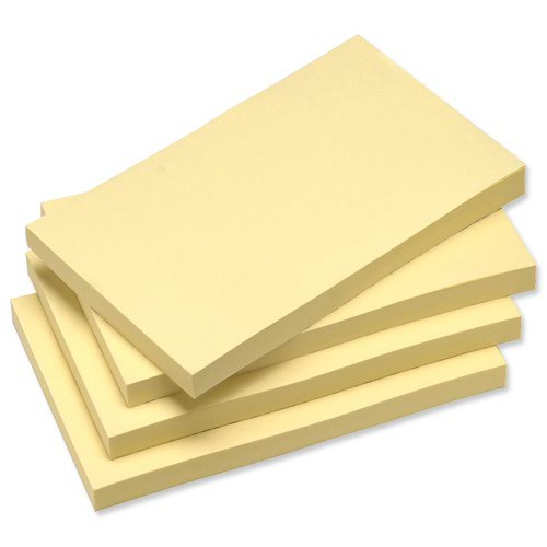 Value Recycled Repositionable Notes 76x127mm Yellow (12)