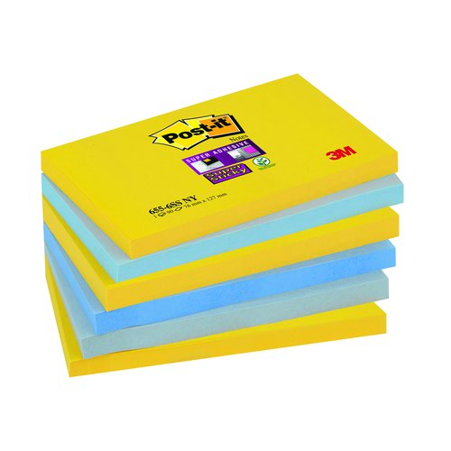 3M Post-it Super Sticky Notes 76x127mm New York (6) 655-6SS-NY