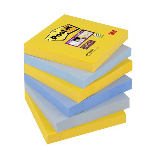 3M Post-it Super Sticky Notes 76x76mm New York (3x6) 654-6SS-NY
