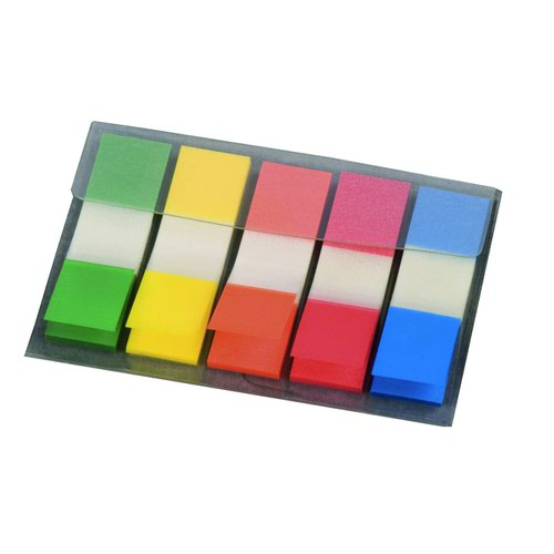 Value Page Marker 12mm Assorted Colours (5x20)