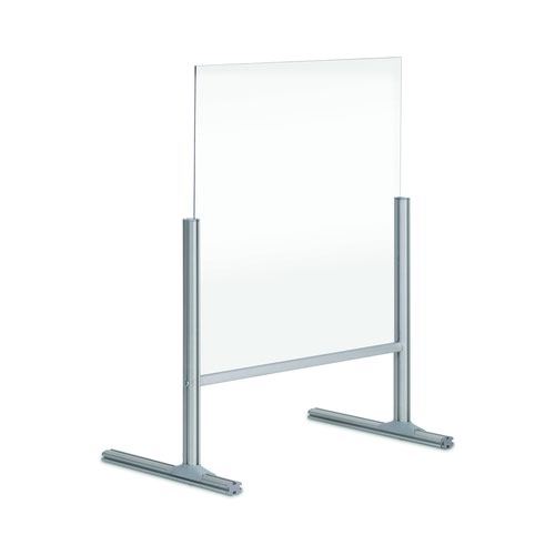 Bi-Office Balcony Acrylic Desk Protection Screen 600x850mm DSP692941