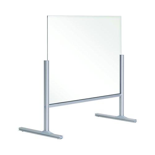 Bi-Office Balcony Acrylic Desk Protection Screen 850x850mm DSP702941