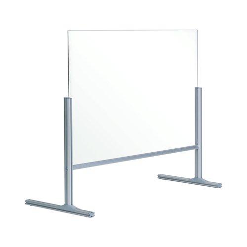 Bi-Office Balcony Acrylic Desk Protection Screen 1000x850mm DSP712941