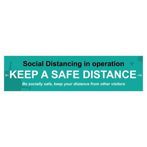 Spectrum Keep A Safe Distance Banner 2000x500mm STP153