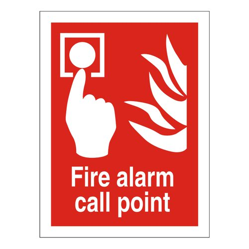 Fire Alarm Call Point Sign 100x200mm Self-Adhesive Vinyl