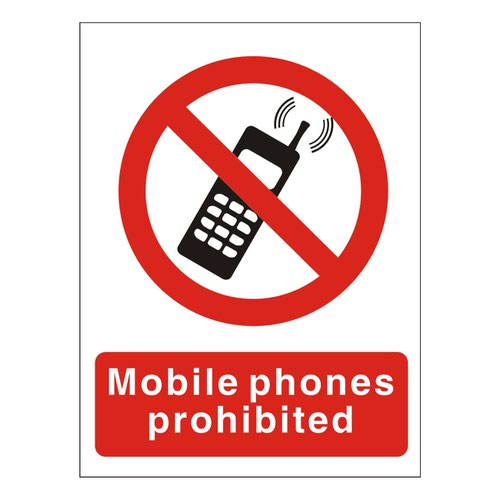 Do Not Use Mobile Phones Sign 200x150mm Self Adhesive Vinyl