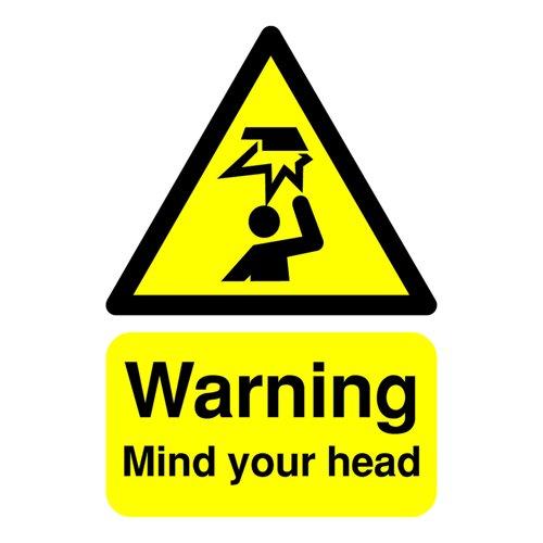 Mind Your Head Sign 200x150mm Rigid PVC