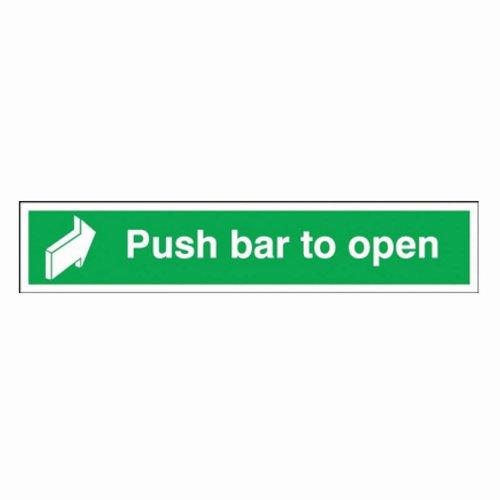 Push Bar To Open Sign 450x75mm Self Adhesive Vinyl