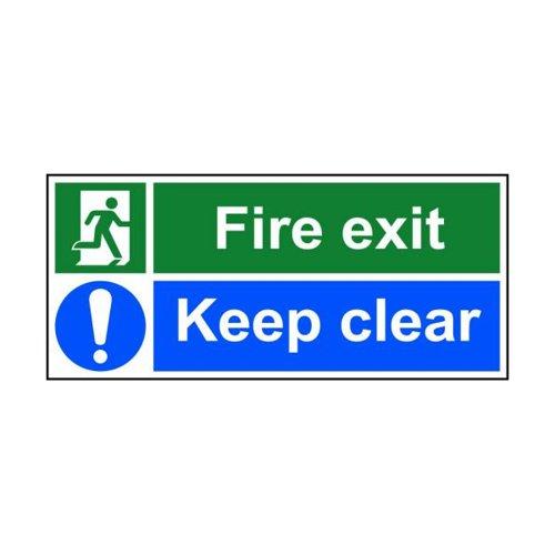 Fire Exit Keep Clear 450x200mm SAV 12132