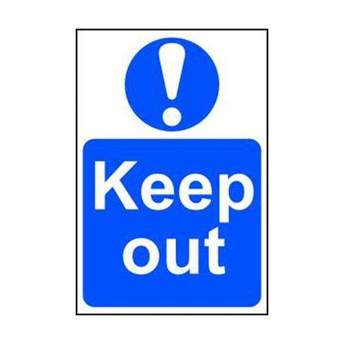 Keep Out Sign 200x300mm Self Adhesive PVC 0255