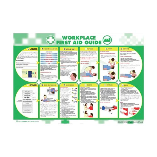 Wallace Cameron Workplace First Aid Poster 590x840mm 5405025
