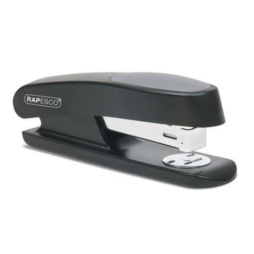 Rapesco Germ-Savvy Sting Ray Half-Strip Stapler Black RR7260B3
