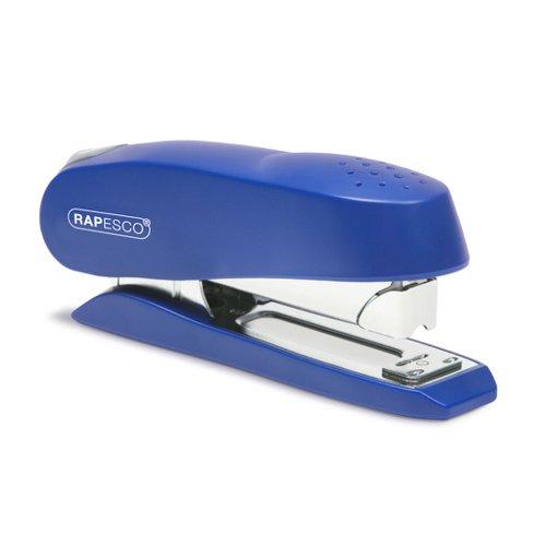 Rapesco Luna 727 Half Strip Stapler Blue 0237