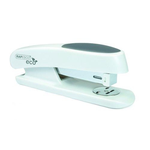 Rapesco Germ-Savvy Sting Ray Half Strip Stapler White +Staples 1483