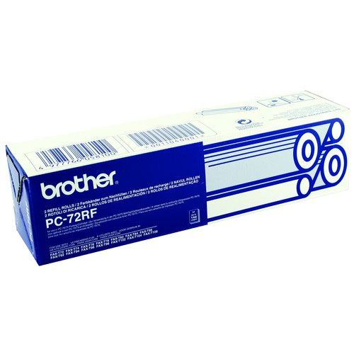 Brother Fax Ribbon Black (2) PC72RF