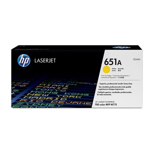 HP No.651A Toner Cartridge Yellow CE342A