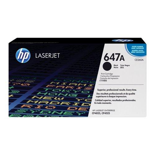 HP No.647A Toner Cartridge Black CE260A