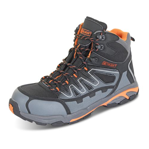 Beeswift Hiker S3 Composite Safety Boots Black/Orange/Grey Size 10/EU44