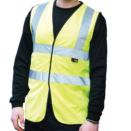 Warrior Budget High Visibility Waistcoat Yellow 0118WBFAG