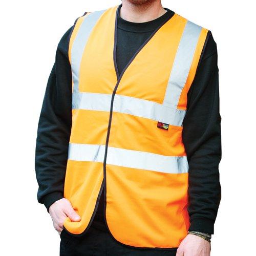Warrior Budget High Visibility Waistcoat Orange 0118WBFAGO