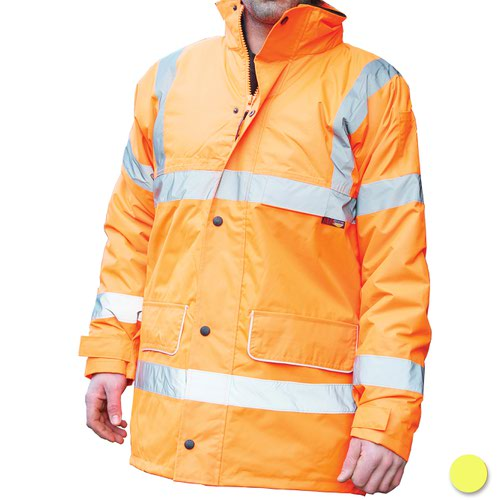 Warrior Nevada High Visibility Class 3 Jacket Yellow 0118FAG