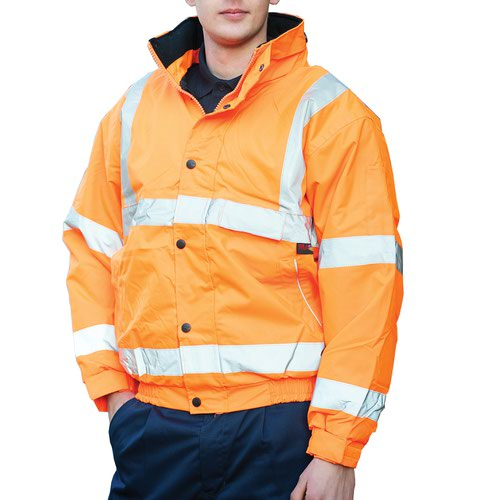 Warrior Memphis High Visibility Class 3 Bomber Jacket Orange 0118FAGBO