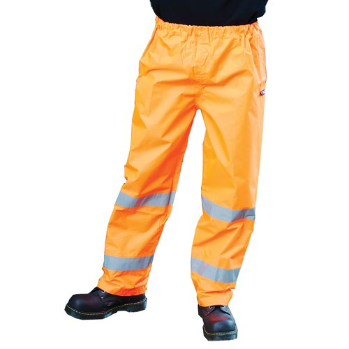 Warrior Seattle High Visibility Class 1 Over Trousers Orange 0118FAGTRO