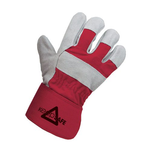 Keep Safe Heavyweight Rigger Gloves Size 10 Grey/Red SLD32