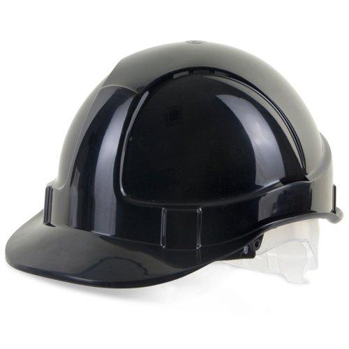 Beeswift Economy Vented Safety Helmet Black BBEVSHBL