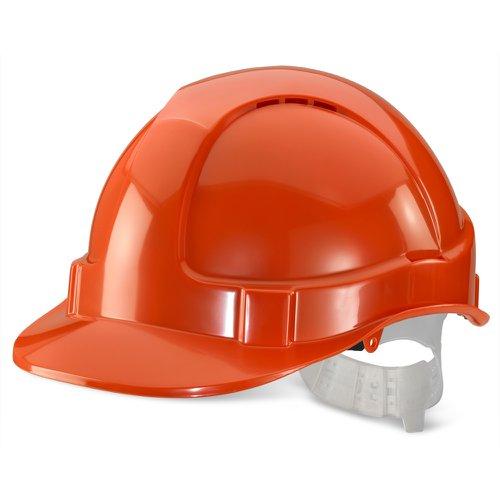 Beeswift Economy Vented Safety Helmet Orange BBEVSHN