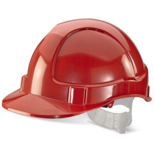 Beeswift Economy Vented Safety Helmet Red BBEVSHOR