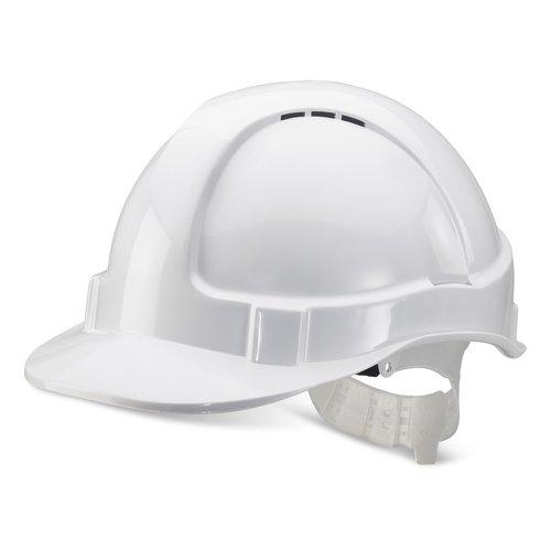 Beeswift Economy Vented Safety Helmet White BBEVSHW