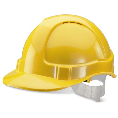 Beeswift Economy Vented Safety Helmet Yellow BBEVSHRE