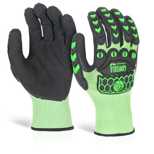 Glovezilla Foam Nitrile Coated Glove XXL Green GZ64LGXXL