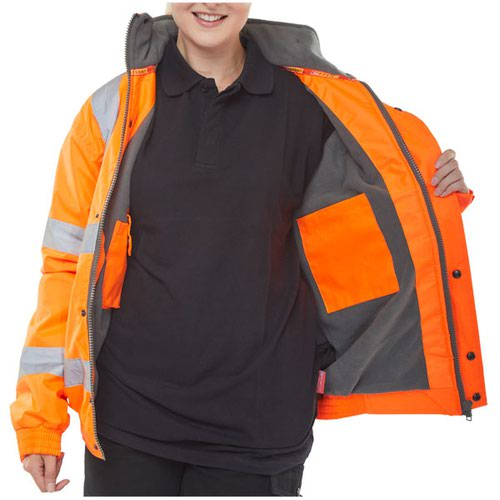 Beeswift High-Visibility Bomber Jacket Orange Large CBJFLORL