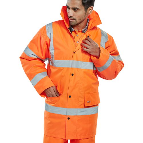 Beeswift High-Visibility Constructor Jacket Orange Small CTJENGORS