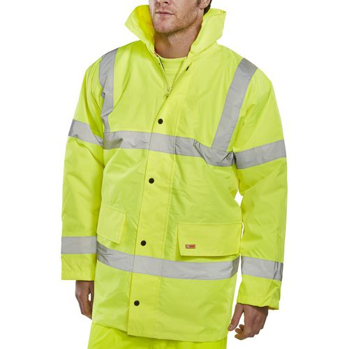 Beeswift High-Visibility Constructor Jacket Saturn Yellow 3XL CTJENGSY3XL