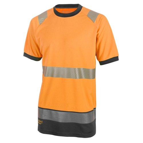Beeswift Two Tone Short Sleeve T-Shirt Orange/Black HVTT001ORBL