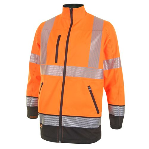Beeswift Two Tone High-Visibility Soft Shell Jacket Orange/Black XXL HVTT040ORBLXXL